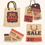 Collection of paper sale price tags Royalty Free Stock Image