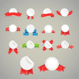 Collection of paper style labels Stock Images