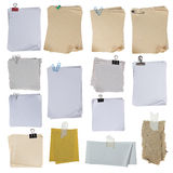 Collection of paper on white background Stock Photo
