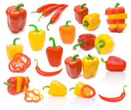 Collection of paprika images Stock Photos