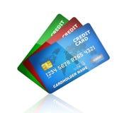 Collection par la carte de crédit Images libres de droits