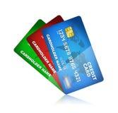 Collection par la carte de crédit d'isolement Photo libre de droits