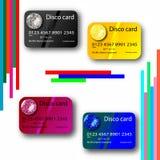 Collection par la carte de crédit de disco Photographie stock