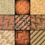 Collection of parquet designs Royalty Free Stock Photography