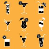 Collection of party cocktails with alcohol Stock Photography