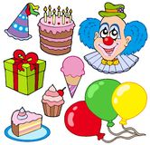 Collection of party images Royalty Free Stock Image