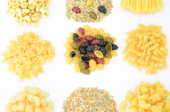 Collection of pastas Stock Photos