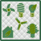 Collection patchwork concept of Eco icons Royalty Free Stock Images