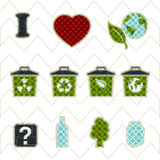 Collection patchwork concept of environment icons Stock Photo