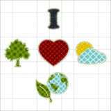 Collection patchwork concept of environment icons Stock Photography