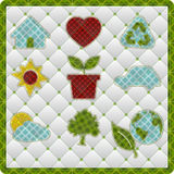 Collection patchwork concept of environment icons Stock Image