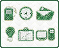 Collection patchwork concept of office icons Stock Photography
