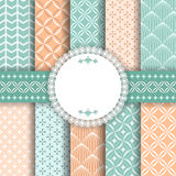 Collection pattern for scrapbook. Stock Photos