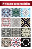 9 collection patterned Vintage tiles. 9 collection design patterned Vintage tiles Stock Images