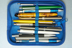 Collection of pen Stock Image