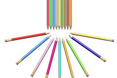 Collection of pens. Royalty Free Stock Photo