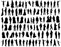 Collection of people Stock Images