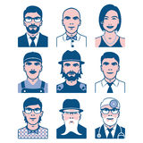 Collection of people avatars Stock Photography