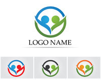 Collection Of People Icons In Circle - Vector community, company, star, corporate, Royalty Free Stock Photos