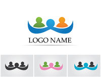 Collection Of People Icons In Circle - Vector community, company, star, corporate, Royalty Free Stock Image