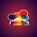 Collection of people icons of leadership, friendship - vector co Royalty Free Stock Images