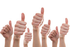 Collection of people showing thumbs of Stock Images