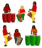Collection of percussionists Stock Photo