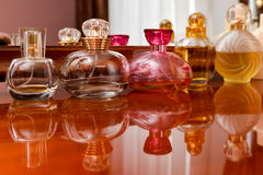 Collection of perfume bottles Stock Images