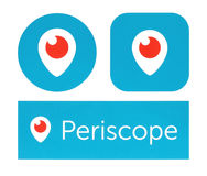 Collection of periscope logos Royalty Free Stock Image