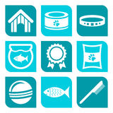 Collection of pet care icons Stock Image