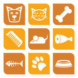 Collection of pet icons Stock Photo