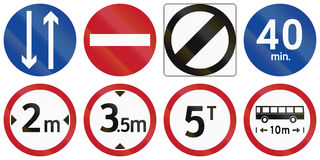 Collection of Philippine regulatory road signs Royalty Free Stock Photography