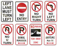 Collection of Philippine regulatory road signs Royalty Free Stock Images