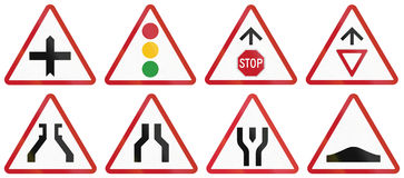 Collection of Philippine warning road signs Stock Image