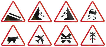Collection of Philippine warning road signs Royalty Free Stock Image