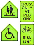 Collection of Philippine warning road signs Stock Photo