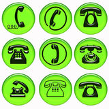 Collection of phone symbol Royalty Free Stock Photography