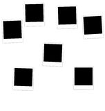 Collection photo frame Royalty Free Stock Image