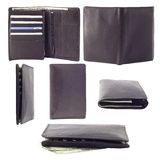 Collection of photographs of male wallet. Six images from different angles Stock Photography