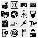 Photography icons Stock Photography