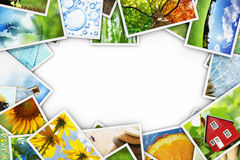 Collection of photos. Collection of colorful photos frame vector illustration