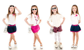 Collection of photos adorable happy little girl Royalty Free Stock Photography