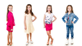 Collection of photos adorable smiling little girl  Stock Image