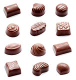 Collection of photos assortment of chocolate candies sweets Royalty Free Stock Images
