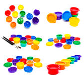 Collection of photos children finger paint Stock Photos