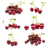 Collection of photos juicy ripe sweet cherry Royalty Free Stock Photography