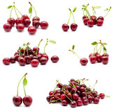 Collection of photos juicy ripe sweet cherry Royalty Free Stock Photo