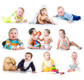 Collection photos of a kids Royalty Free Stock Photo