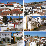 Collection of photos from portuguese medieval town- Obidos Royalty Free Stock Photography