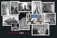Collection of photos of Sao Paulo, Brazil stock photography
